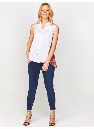 Faik Sönmez  Sim Desen Garnili Beyaz Gömlek 60365 Beyaz